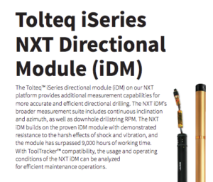NOV Tolteq iSeries MWD